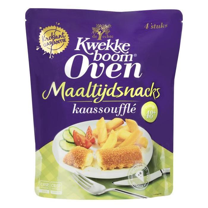 Kwekkeboom Oven maaltijdsnack kaassoufflé 48+ (4 × 280g)