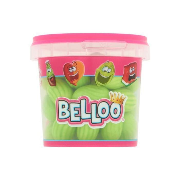 Belloo snoep Kauwgom meloentjes 200g bakje (200g)