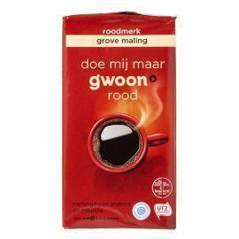 g'woon Roodmerk koffie grove snelfiltermaling (250g)