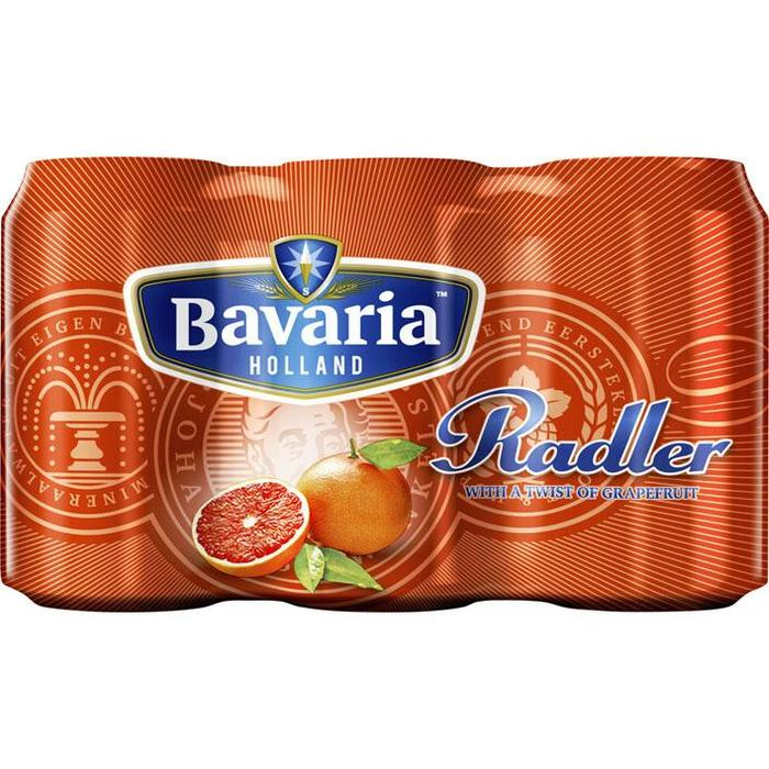 Bavaria Radler Grapefruit (rol, 6 × 33cl)