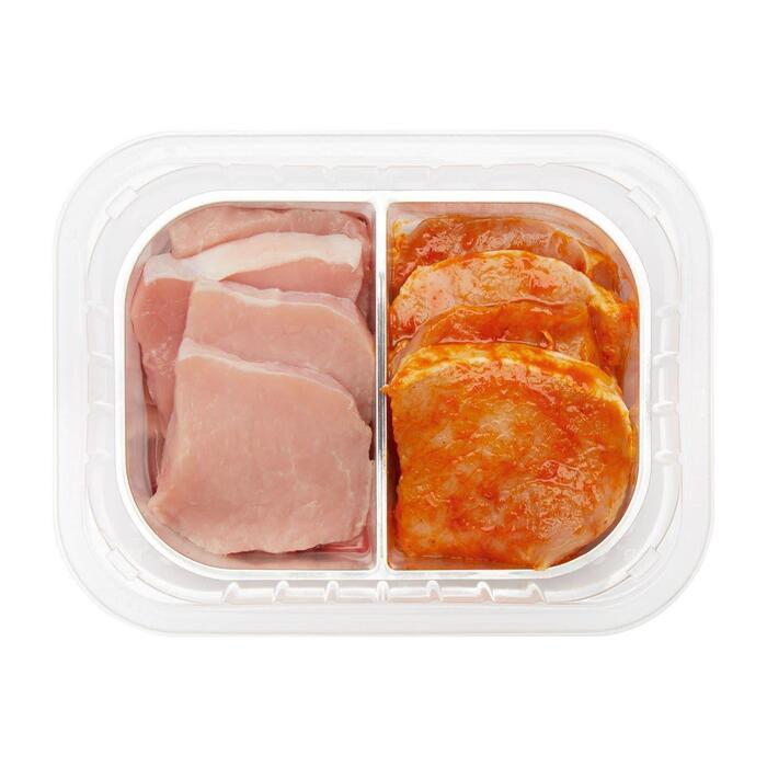 Mini varkensfiletlap naturel & gemarineerd (190g)