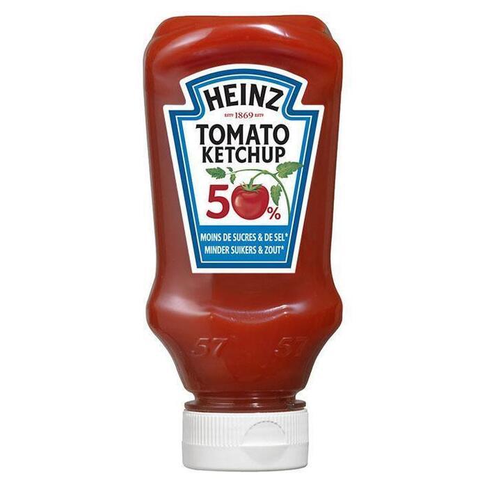 Ketchup 50% minder suiker (plastic fles, 220ml)