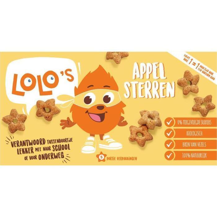 Lolo's Appel sterren (5 × 100g)