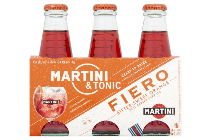 Martini & Tonic Fiero 3 x 150 ml (45cl)