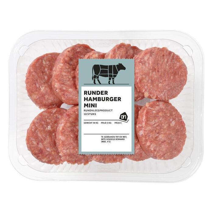 Mini hamburgers (bak, 10 × 250g)