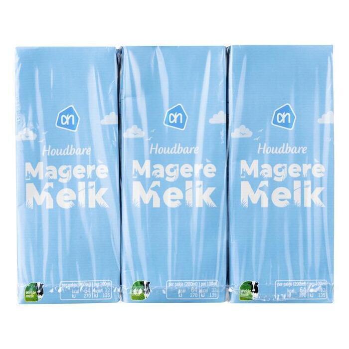 Magere melk (pak, 6 × 200ml)
