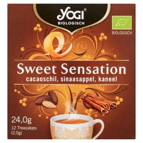 Yogi Biologisch Sweet Sensation Cacaoschil, Sinaasappel, Kaneel 12 Stuks 24,0 g (24g)