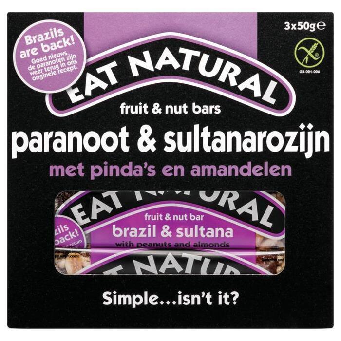 Eat Natural Paranoten Sultanas & Almonds (3 × 50g)