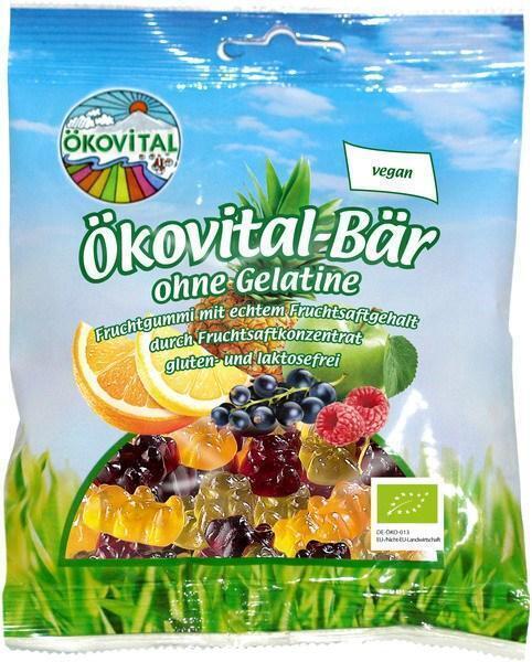 Vruchtenbeertjes zonder gelatine (100g)
