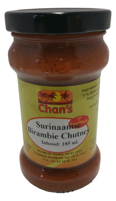 Chan's Surinaamse Birambie Chutney 185ml (185ml)