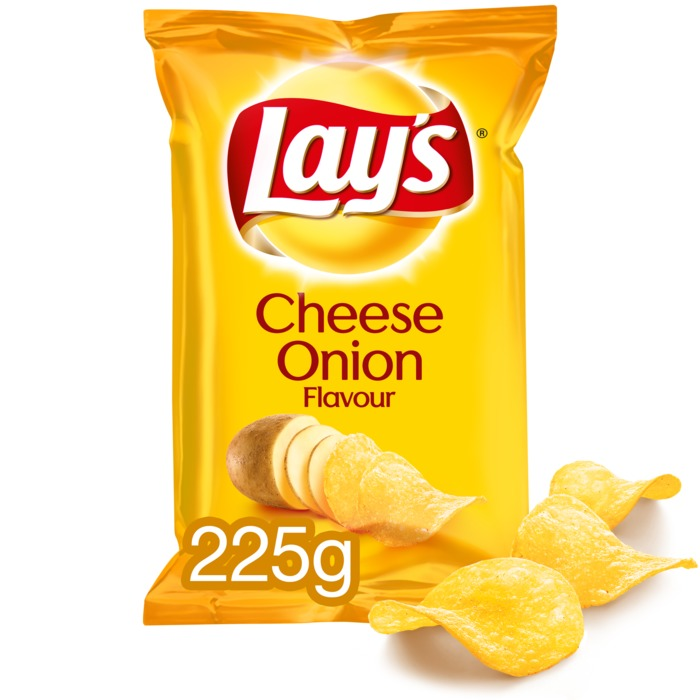 Cheese onion chips (Stuk, 225g)