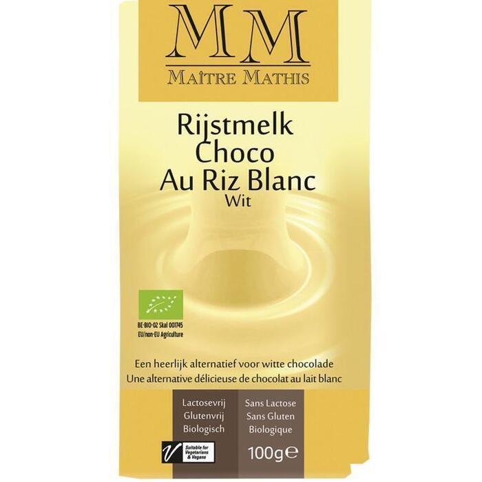 Maitre Mathis gluten- en lactosevrije chocolade, wit 100 g wikkel (100g)