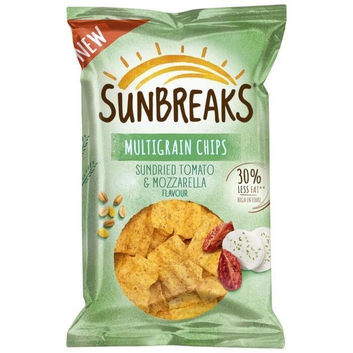 Sunbreaks Tomato & Mozzarella Meergranen Chips 95 gr (95g)