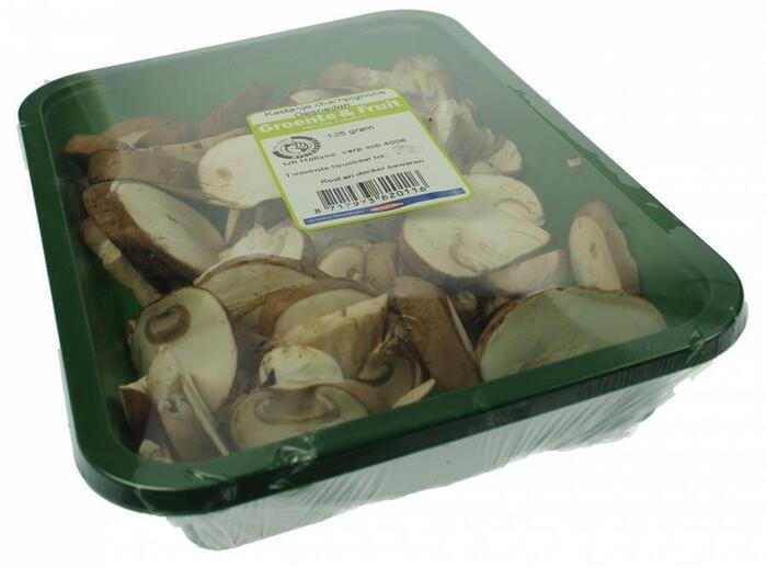 Kastanje champignons gesneden (125g)