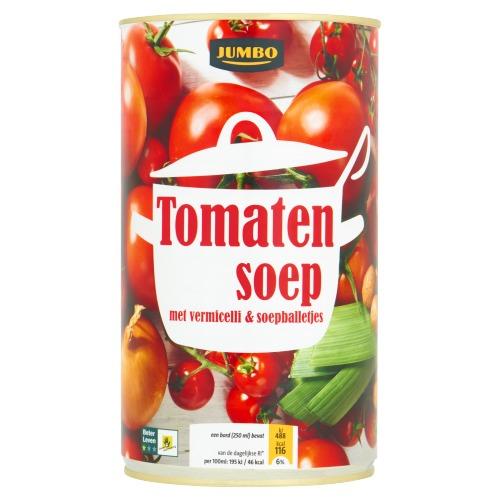 Tomatensoep met Vermicelli & Soepballetjes (blik, 1.2L)