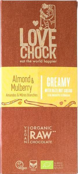 Chocotablet creamy almond mulberry (70g)