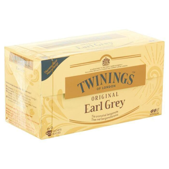 Twinings of London Original Earl Grey 25 Builtjes 50 g (25 × 50g)