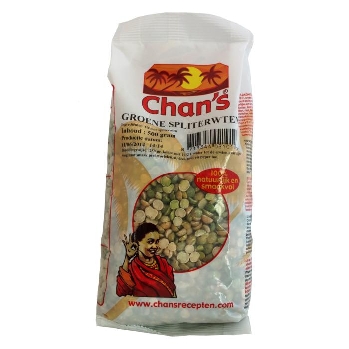 Chan's Groene Spliterwten (500g)