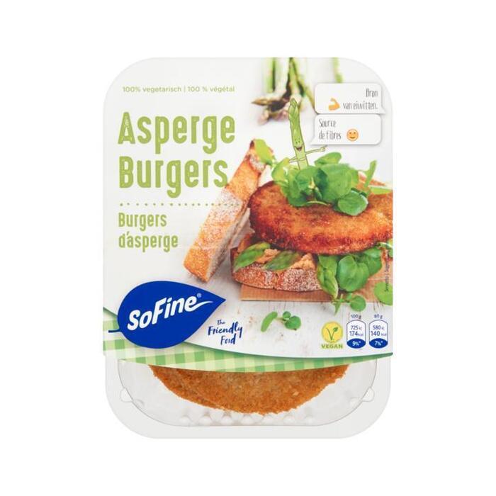SoFine Groene Aspergeburgers 2 x 80g (160g)