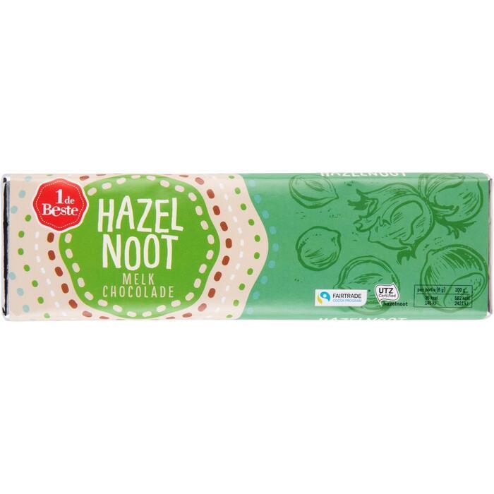 Chocoladereep hazelnoot (180g)
