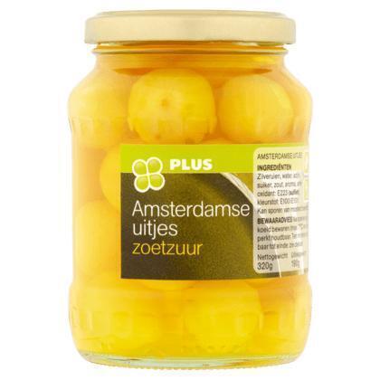 Amsterdamse uitjes zoetzuur (Pot, 320) (37cl)