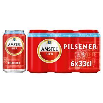 Amstel Bier gekoeld blik 6 x 33 cl (rol, 6 × 33cl)