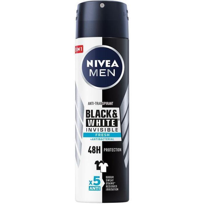 Nivea Men Black & White Invisible Fresh Anti-Transpirant 150 ml (150ml)