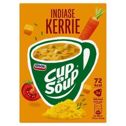 Unox Cup-a-soup indiase kerrie (3 × 17g)