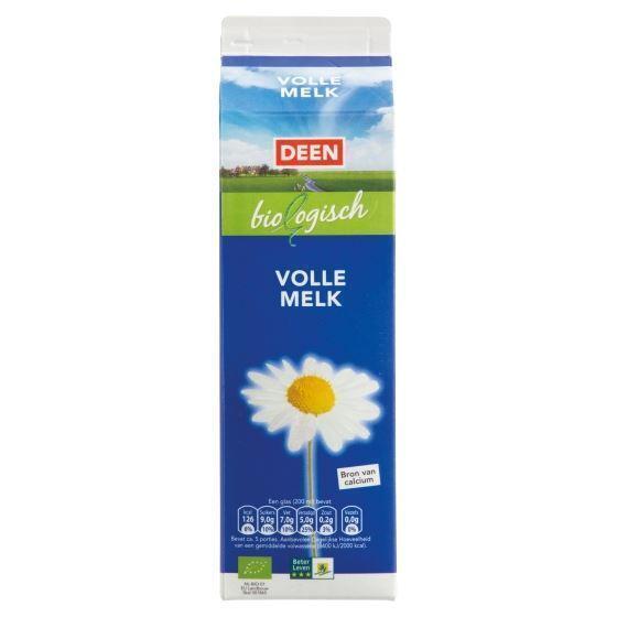 Biologische Volle melk (pak, 1L)