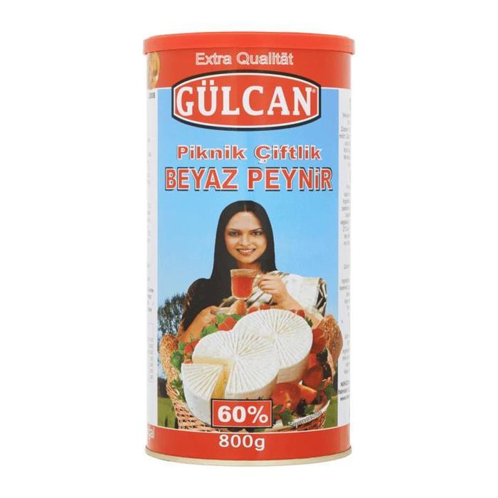 Gülcan Piknik Çiftlik Zachte Witte Kaas 60% 800g (1.5kg)