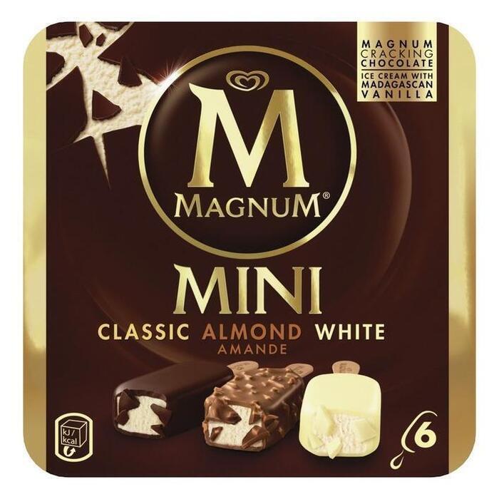 Magnum mini classic almond white 6 st (6 × 266g)