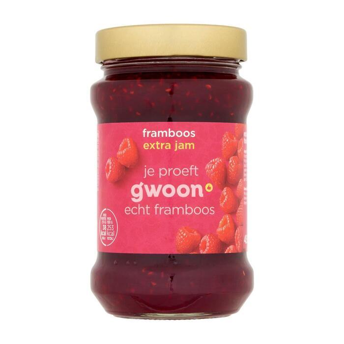 g'woon Extra jam frambozen (450g)