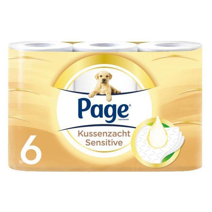 Page Kussenzacht sensitive toiletpapier (rollen)