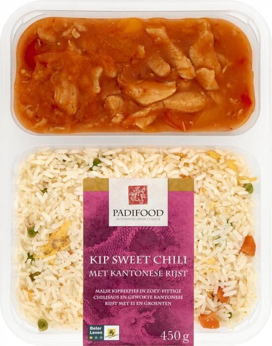 Padifood Chinese Kip Sweet Chili met Kantonese Rijst (Stuk, 450g)