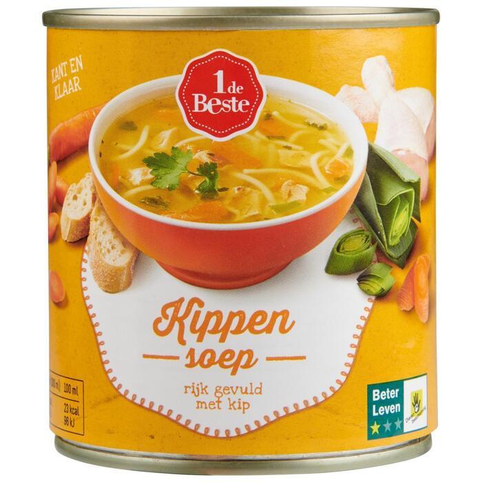 1 de Beste Kippensoep 300 ml Blik (30cl)