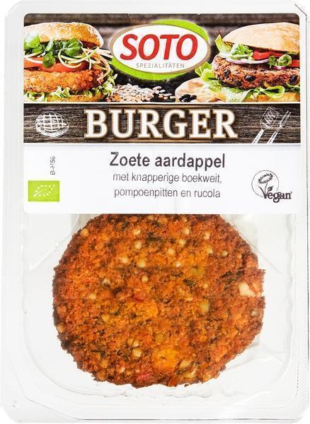 Zoete aardappelburger (160g)
