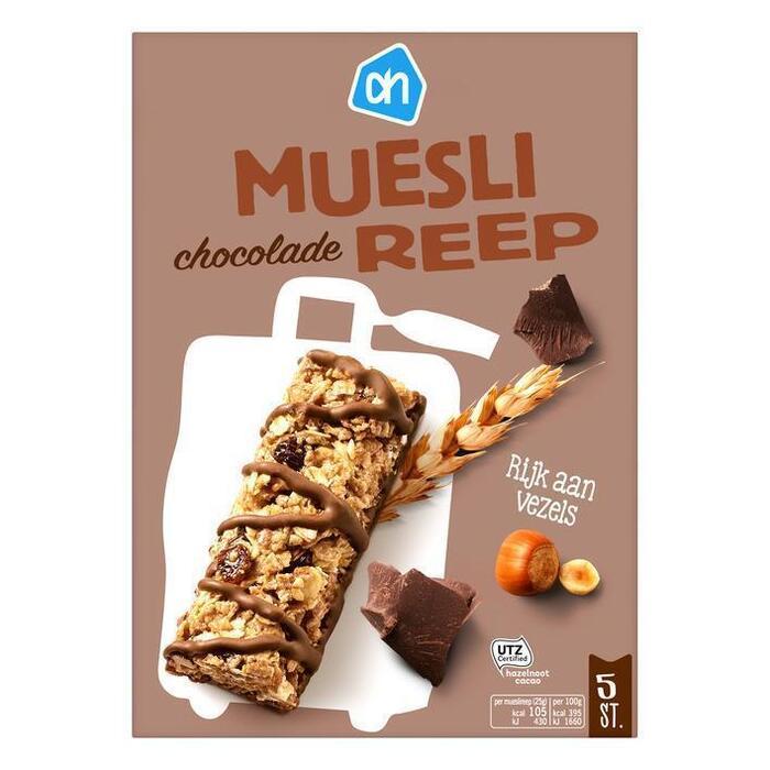 AH Mueslireep chocolade 5 st. (5 × 25g)