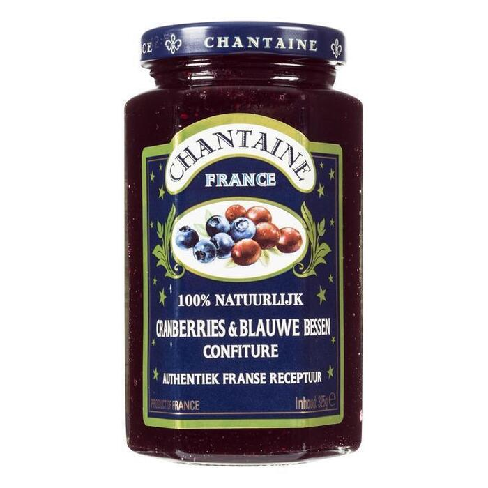 Cranberries & Blauwe bessen confiture (glas, 325g)