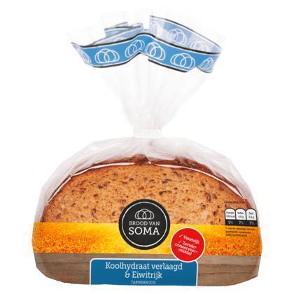 Brood van Soma Roggebrood koolhydr verlaagd&eiwitrijk (300g)