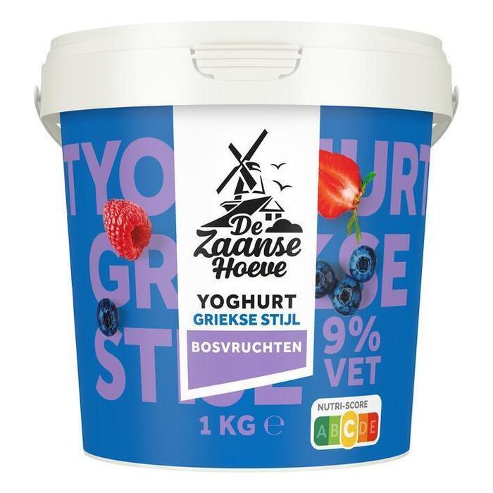 De Zaanse Hoeve Griekse stijl yoghurt bosvrucht (1kg)