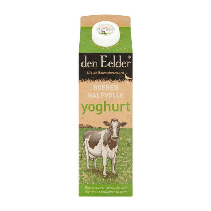 Halfvolle boerenyoghurt (Stuk, 1L)