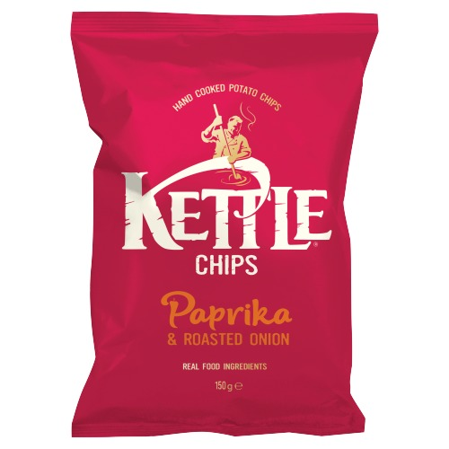 Kettle Chips Paprika & Roasted Onion 150g (150g)