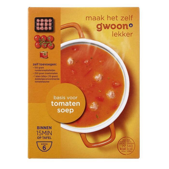 g'woon Tomatensoep (85g)