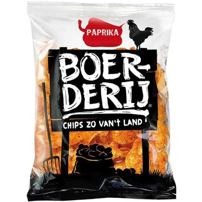 Boerderij Chips Paprika (zak, 190g)