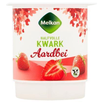 Melkan Aardbei Halfvolle Kwark 450 g (450g)