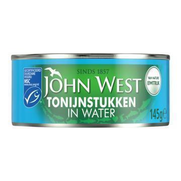 Tonijnstukken in water (blik, 145g)
