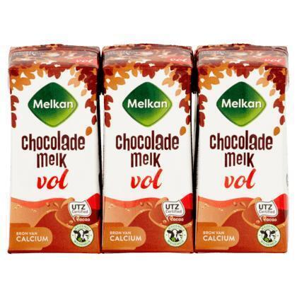 Volle chocolademelk (drinkpak, 6 × 200ml)