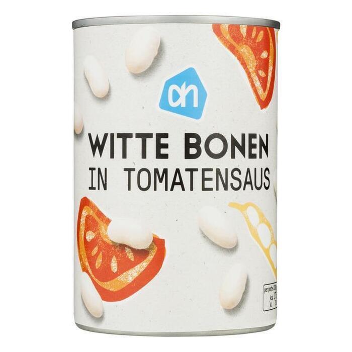 Witte bonen in tomatensaus (blik, 400g)