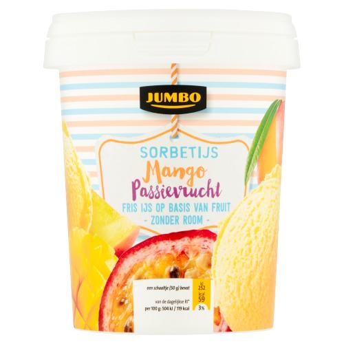 Jumbo Sorbetijs Mango Passievrucht 500 ml (0.5L)