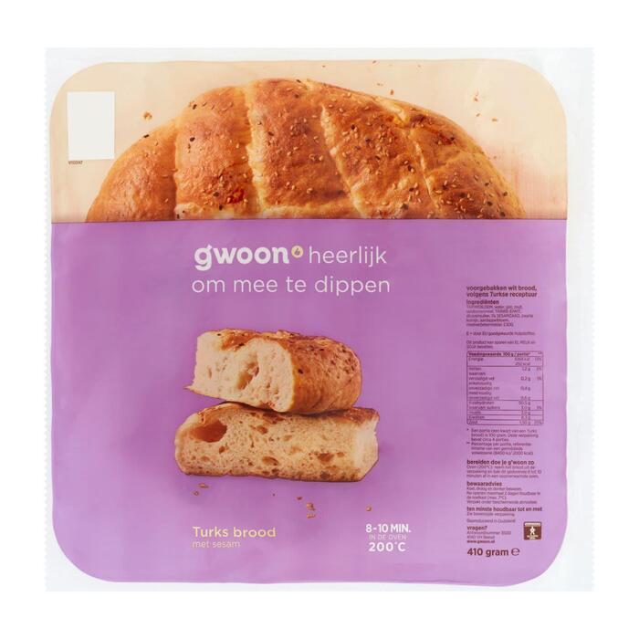g'woon Turks brood (410g)